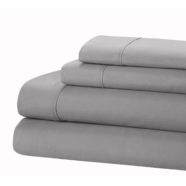 400 Thread Count 100% Cotton Sheet Set by Nicole Miller
